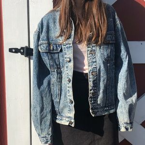 Vintage Lee Jeans denim jacket - Men's Medium acid